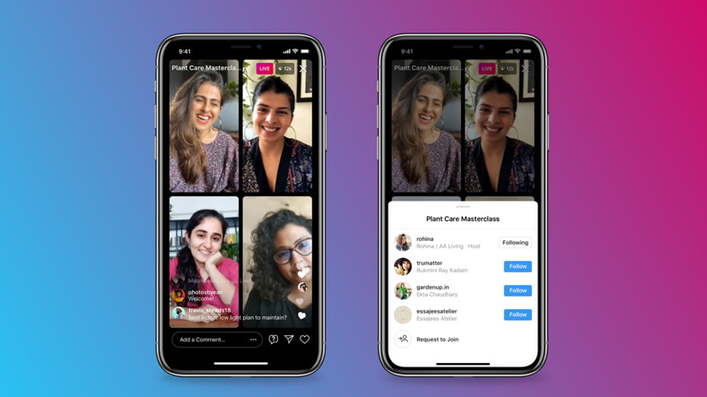 Instagram Raises the Participant Limit in Live Streams to 4